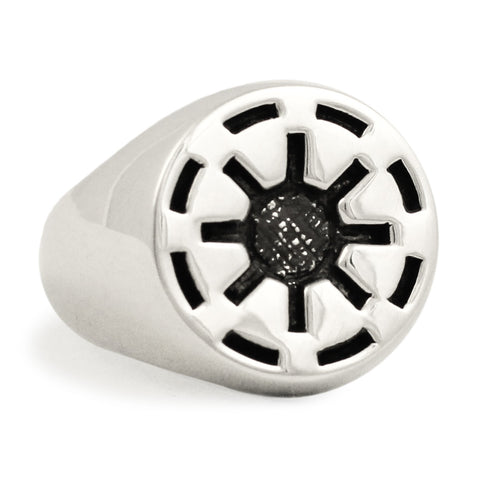 Sterling Silver Galactic Republic Star Wars Ring - Clone Wars Imperial Coat of Arms