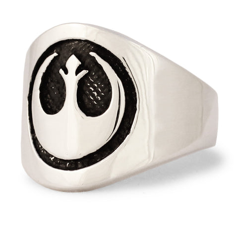 Sterling Silver Star Wars REBEL ALLIANCE Ring The StarBird Insignia Band Ring