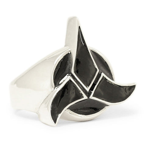 Star Trek Ring Klingon Imperial Coat of Arms in Sterling Silver 925