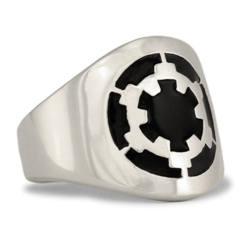Star Wars Death Star Ring Darth Vader Republic Symbol in Sterling Silver 925