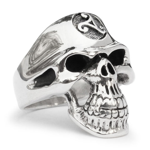 Celtc Triade Skull Ring Grim Reaper in Sterling Silver 925