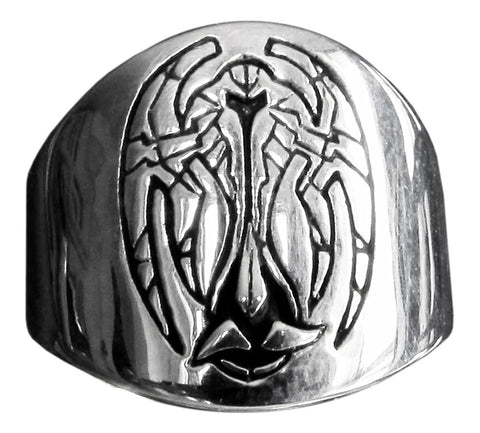 Star Trek Klingon Ring Cardassian Alliance Coat of Arms in Sterling Silver 925