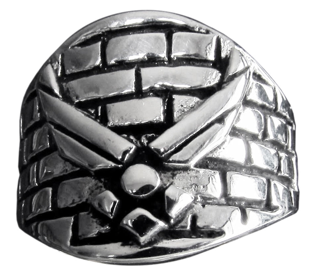 Ramstein Airbase Ring Army Insignia in Sterling Silver 925