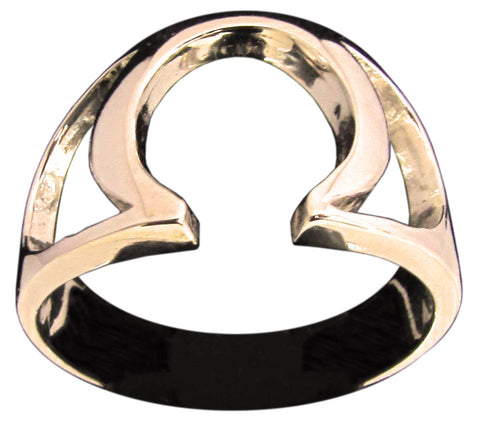 Greek Letter OMEGA Ring in Bronze - Size 16