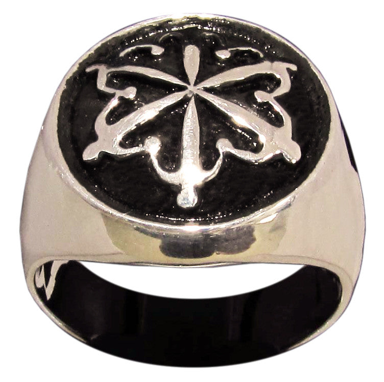 World Unity Symbol Ring Human Circle in Bronze - Size 16