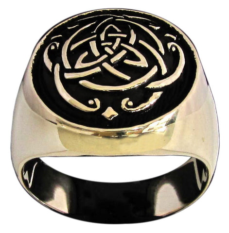Celtic Infinity Knot Ring Thor Viking Symbol in Bronze - Size 16