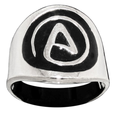 Atheism Ring Atheist Symbol in Sterling Silver 925