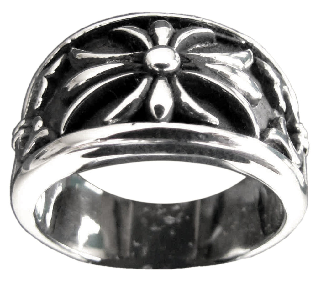 Medieval Knights Templar Ring Celtic Crest Design in Sterling Silver 925