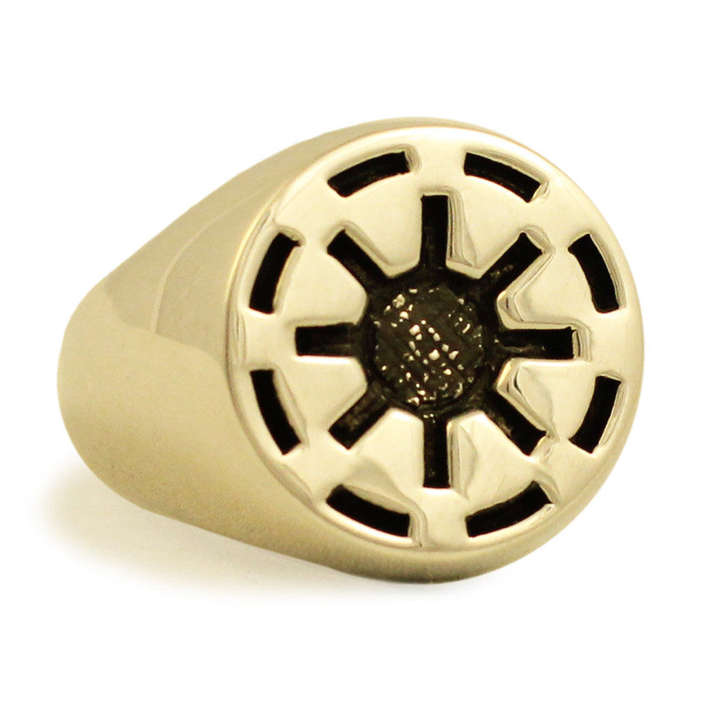 Bronze Galactic Republic Star Wars Ring - Clone Wars Imperial Coat of Arms