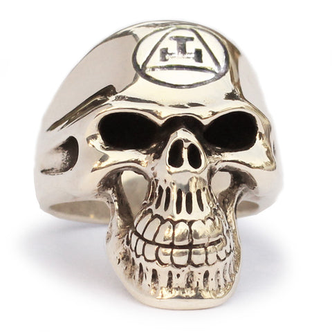 Masonic Order Skull Ring Grim Reaper in Bronze