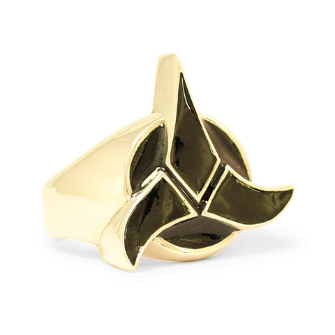 Star Trek Ring Klingon Imperial Coat of Arms in Bronze