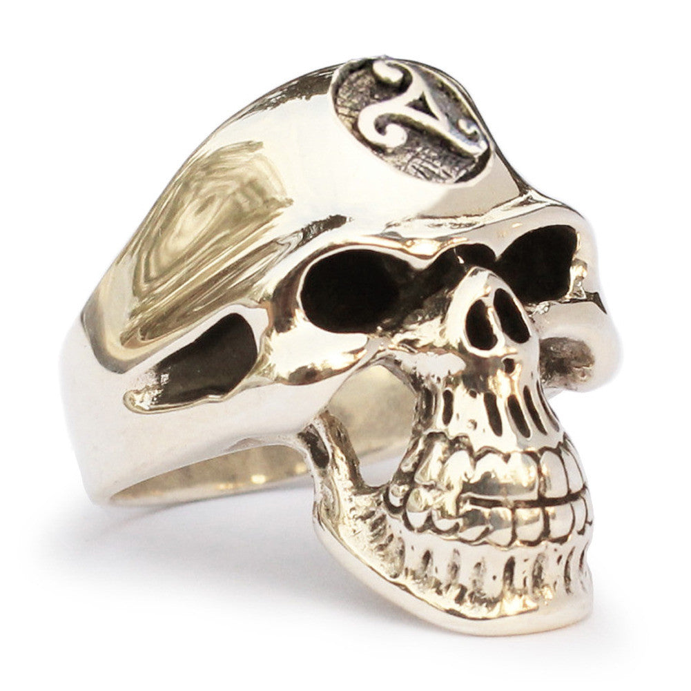 Celtc Triade Skull Ring Grim Reaper in Bronze