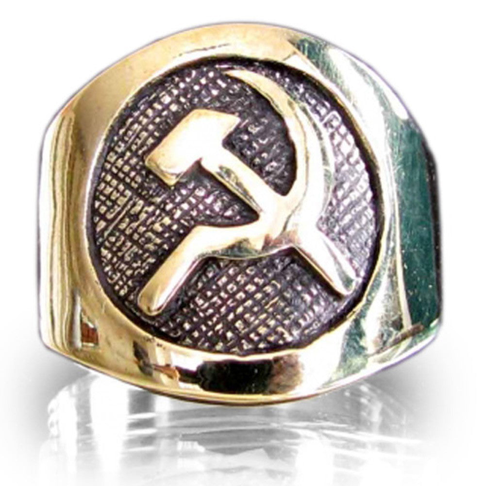 Bronze Hammer and Sickle CCCP Communist USSR Ring