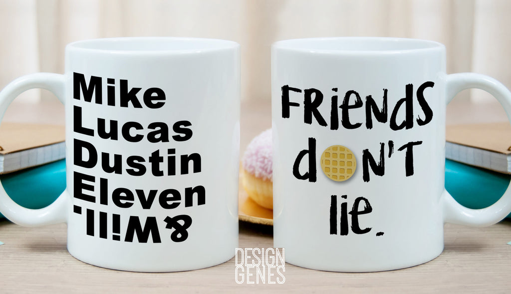 stranger things mug friends don't lie