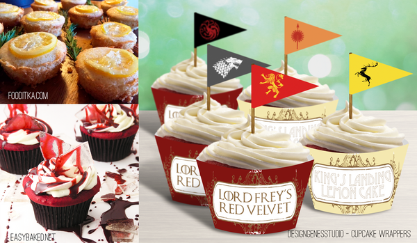 Game of Thrones Cupcake Wrappers Lemon Cake Recipe