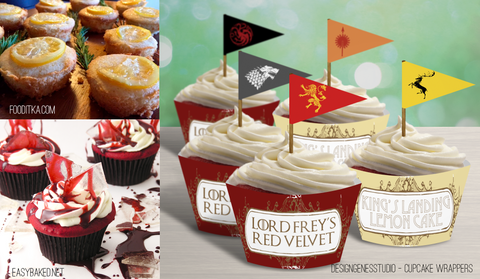 Game of Thrones cupcake wrappers