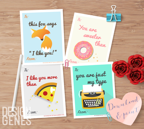 Free printable valentine's cards for kids and adults