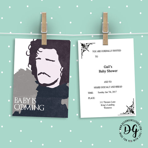 Game Of Thrones Baby Shower Invitation And Ideas Designgenes Studio