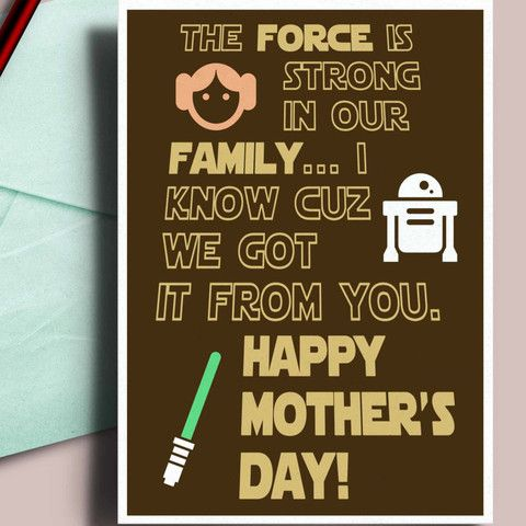 Starwars Mother's day card