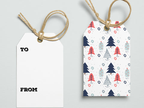 Printable Scandinavian Christmas gift tags