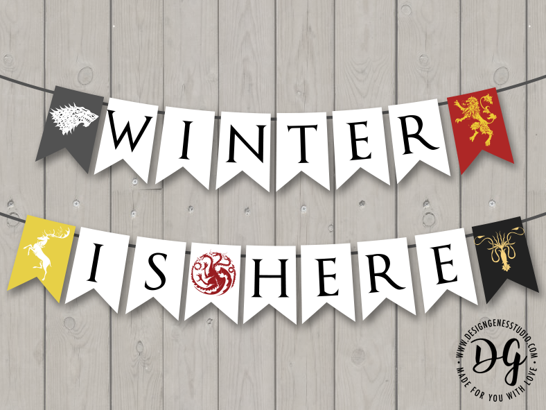 Winter is Here Game of Thrones Banner