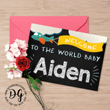 Printable Baby shower personalized baby name card