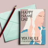"Game of Thrones Name Day card Daenerys Targaryen ""you rule the seven kingdoms"""