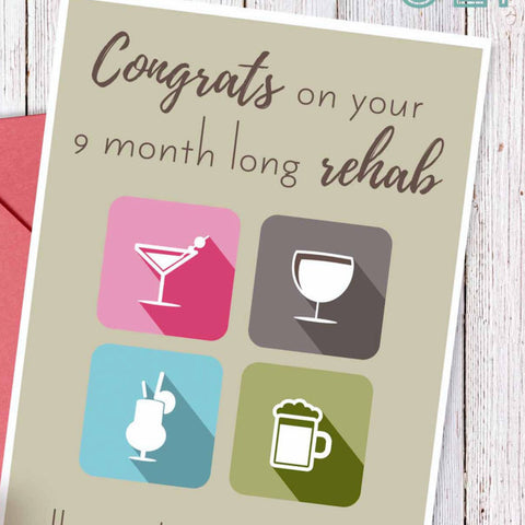 Funny pregnancy card, funny new mom card, baby shower card, pregnancy and wine, pregnancy humor, sarcastic pregnancy joke, new baby card
