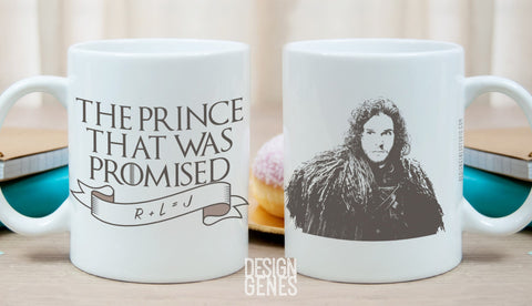 The prince that was promised, Jon Snow mug, Game of Thrones mug, ASOIAF mug, game of thrones gift, the prophecy, Rhaegar Lyanna, R+L=J