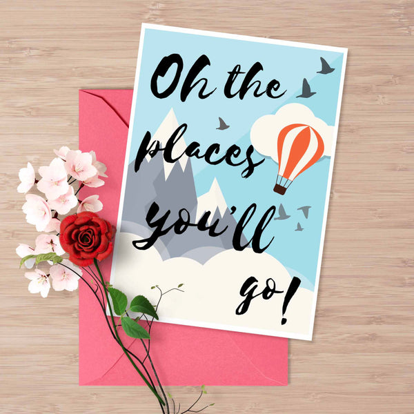 Dr.Seuss Quote: Oh The Places You'll Go Inspirational