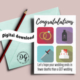 Game of Thrones wedding card, Red wedding, GOT wedding, purple wedding, wedding card, Funny Game of Thrones wedding, printable wedding card