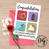 Game of Thrones wedding card, GOT Red wedding, Funny Game of Thrones card, purple wedding, GOT wedding card, Funny Game of Thrones wedding