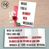 Funny Game of Thrones wedding card, Red wedding card, GOT wedding, purple wedding, wedding card, Funny Game of Thrones wedding, foldout card