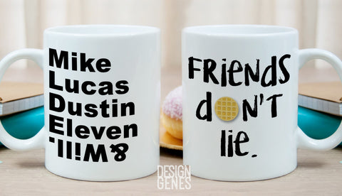 Stranger things gift, Friends don't lie mug, Upside down, Stranger things show, Stranger things, birthday gift, squad goals, christmas gift