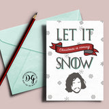 Printable Game of Thrones Christmas card, Jon Snow card, let it snow, winter is coming, Christmas card, Game of Thrones xmas card