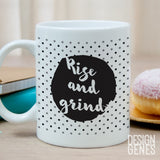 Rise and grind mug, coffee lover gift, lady boss gift, Inspirational quote mug, get shit done, entrepreneur gift, gift for her, mom gift