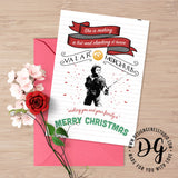 Game of Thrones Christmas card, GoT xmas card, Arya Stark card, valar morghulis, winter is coming, Christmas card, Game of Thrones xmas card