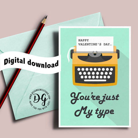 Download free printable greeting cards and party dcors you are just my type valentines card printable starbucks card holder m4hsunfo