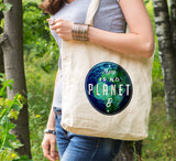 Earth day gift, eco tote bag, there is no planet B, reusable tote, tree hugger gift, reusable shopping canvas tote bag, reduce reuse recycle