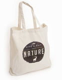 Give a shit about nature, reusable shopping tote, eco tote bag, tree hugger gift, reusable shopping canvas tote bag, reduce reuse recycle