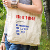 woman's march quote, Nasty woman quote, eco tote bag, nasty woman get shit done, reusable tote, feminist quote gift, woman's day gift