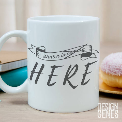 Game of Thrones mug, Arya Stark quote, winter is coming, the starks words, winter is here, game of thrones mug, gift for her, gift for him