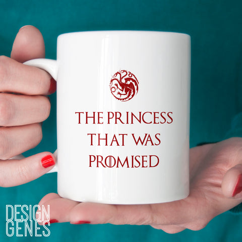 The Princess that was Promised mug, Daenerys Targaryen, Game of Thrones mug, Rhaegar prophecy, season 7, winter is here, game of thrones mug