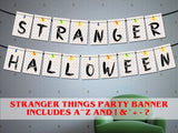 Printable Stranger things viewing party, Stranger things Season 2 party banner, 80s party d̩cor, stranger things Christmas lights banner,