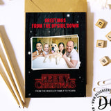 Printable Stranger things Christmas card, Stranger things Christmas greeting, Christmas card template, replace with your own photo and print
