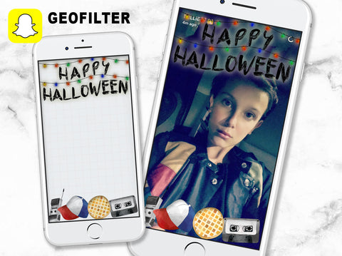 Stranger things snapchat geofilter, Stranger things Halloween party geofilter, 80s halloween geofilter, stranger things Christmas geofilter