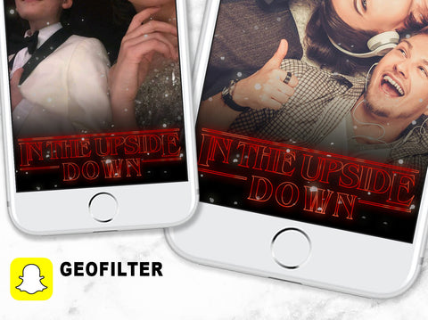 Stranger things birthday party geofilter, Stranger things upside down snapchat geofilter, 80s birthday geofilter, stranger things Christmas