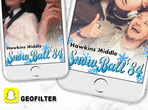 Stranger things snapchat geofilter, Snow ball 84 geofilter, Stranger things party geofilter, 80s party geofilter, stranger things geofilter