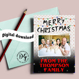 Printable Stranger Things Christmas card, Stranger Things Christmas greeting, things christmas lights, replace with your own photo and print
