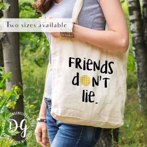 Stranger things Christmas gift, eco tote bag, friends don't lie, demogorgon, the upside down, Eggos, reusable tote, Strange things fan gift